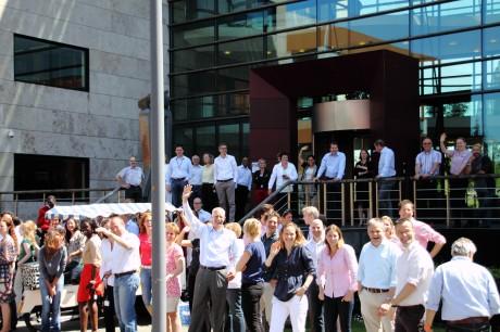Departure for roparun 2012 - bye bye