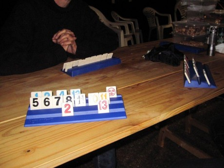 rummikub - time to play at the base camp