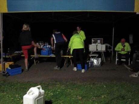 night at the base camp