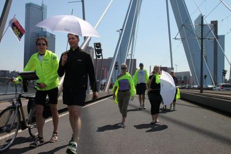 Crossing the famous bridge